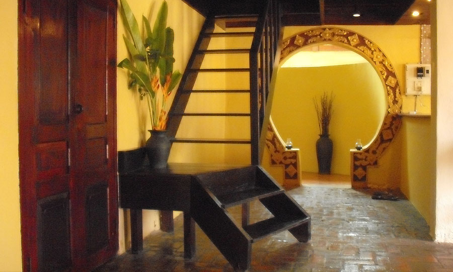 view of downstairs of the UNESCO Heritage house in luang prabang - Hillside Nature and lifestyle lodge - laos